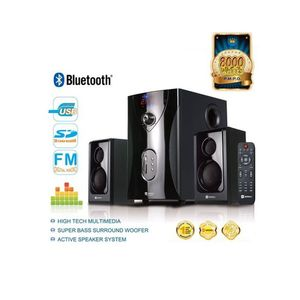 Sayona SHT-1003 - 2.1 Channel Home Theater Speaker System with Bluetooth & Sub-woofer - Black