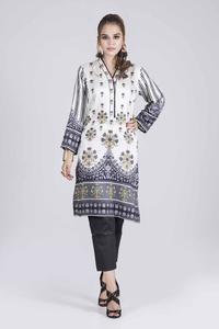 Bonanza Satrangi WINTER COLLECTION-19 VOL.1 OMBRE BLACK - 1 PC 1 PC Unstitched Kurti for Women