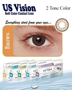 US Vision 2 Tone Contact Lenses - Brown