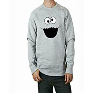 TJ FASHION Grey Fleece Printed Sweatshirt Shirt For Men