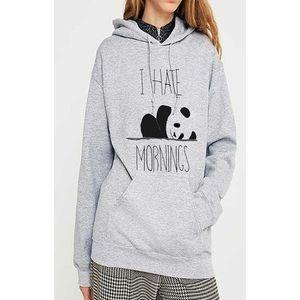 Grey Fleece Hoodie For Women