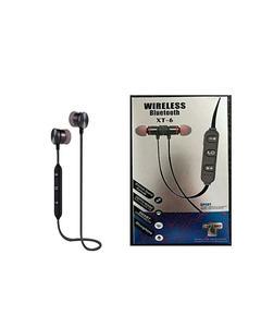 Wireless Xt6 Magnetic Sweatproof Sports Wireless Bluetooth V4.1 Earphones With Mic - Black