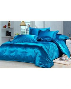 My Home Store s-01 - Silk Bed Sheet Set - Blue