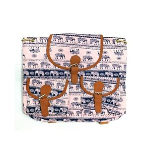White & Blue College Bag For Girls