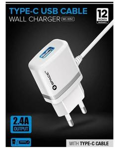 WC-105C Wall Charger Type-C Usb Cable - White