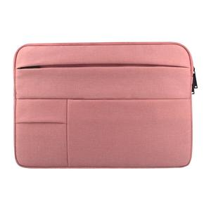 Universal Multiple Pockets Wearable Oxford Cloth Soft Portable Leisurely Laptop Tablet Bag, For 15.6 inch and Below Macbook, Samsung, Lenovo, Sony, DELL Alienware, CHUWI, ASUS, HP (Pink)