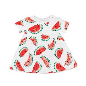 Kids Baby Girls Princess Fruits Print Short Sleeve Dress Vest Clothes