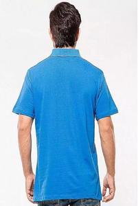 Royal Blue Poly-Cotton Polo T Shirt