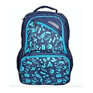 American Tourister Pack of 2 - At Doodle I Backpack + Pencil Case - Ind Blue