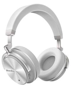 T4 Turbine - Active Noise Cancelling Over-Ear Swiveling Wireless Bluetooth Headphones With Mic - White