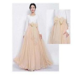 Aiza boutiqueLight Pink Net And Silk Dress For Women