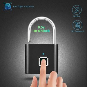 Keyless USB Rechargeable Fingerprint Smart Padlock Door Luggage Security Lock High Quality