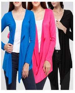 Pack Of 3 - Multicolor Fleece Shrug For Women