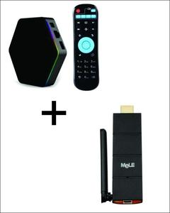 Pack of 2 - Smart TV Box T95Z Plus & MELE Cast S3 Smart TV Stick - Black HDMI DONGLE
