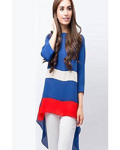 Multi Color Panel Western Style Tunic For Women