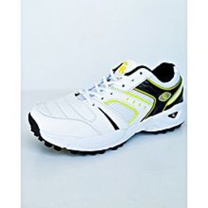 BEST OFFERS Yellow - Black And White Cricket Gripper Shoes For Men