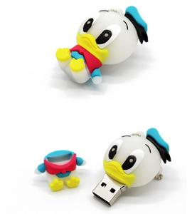 KING SARAS cartoon usb 2.0 animal mini duck style 4GB 8GB 16GB 32GB 64GB pendrive USB Flash Drive