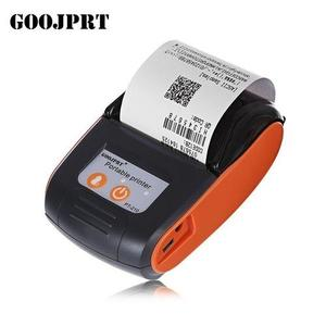 Bluetooth Thermal Printer Receipt Machine - EU Plug - Orange Red