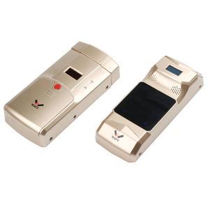 WAFU Wireless Smart Invisible Fingerprint Remote Lock, Security Anti-theft Lock with Fingerprint Keypad - Golden