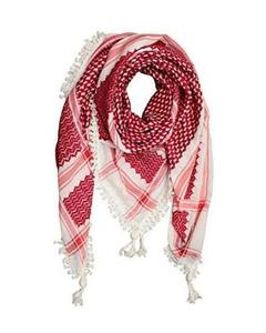 """Arab """"Shemagh"""" Head Scarf - Red and White"""