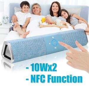 20W Wireless Bluetooth Speaker Soundbar Touch NFC Cloth Sound Bar Subwoofer Black