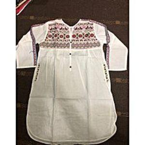 StoreNStoreLolly Pop Embroidered White Kurti For Women
