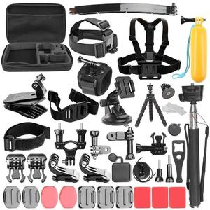 Sports Action Camera Accessories Set With 360°Rotation Clip Handle Grip