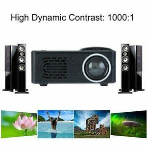 New 1080P Mini Battery Projector RD814 LCD LED Portable Projector RD-814 Home Theatre Cinema LED USB Video Media Player with remote control (N)