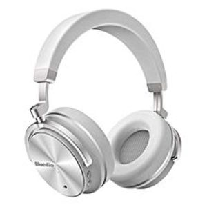 BLUEDIO T4 Turbine - Active Noise Cancelling Over-Ear Swiveling Wireless Bluetooth Headphones With Mic - White