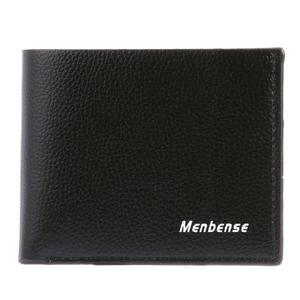 Soft Letters Bifold PU Men Wallet Flap Casual Coin Purse ID Card Holder
