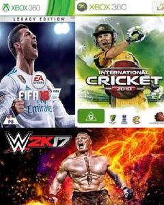 Wk 17+Fifa 18+Cricket 10-Xbox 360