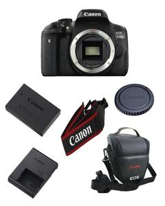 750D Dslr Camera Body With 1 Year Warranty With Bag And Accessries (Without Lens)