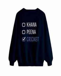Blue Khana Peena Cricket Printed Sweat Shirt For Girls & Women WS087