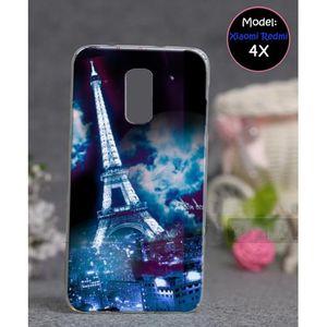 Xiaomi Redmi 4X Mobile Cover Eiffel Tower Style - Blue
