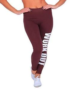 Maroon Workout Printed Gym Tight
