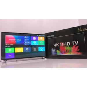 """Samsung - UHD 4k Led Flat Smart Tv (Double Glass) - 43"""" Inch - Silver - Model: NU Series N7100 - 2 years circuit warranty - With Free Wall-Mount & Free 16 Gb USB (Included 4k Videos For Test)"""