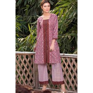 SITARA STUDIO Sapna Collection 2019 Multicolor Lawn 2PC Unstitched Suit For Women - 6124 A  (Un-stitched)