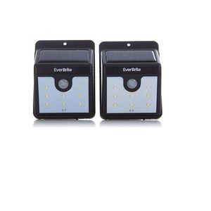 DK Electronics Pack of 2 - Solar Outdoor Stick-Up Light - Black