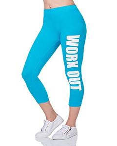 Royal Blue Workout Printed Gym Tight