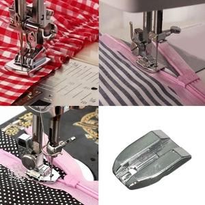 Stainless Steel Invisible Concealed Zipper Presser Foot for Brother Sewing