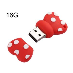 TE Usb2.0 Cartoon Bow Rubber U Disk  8gb/16gb/32gb/64gb/128gb/256gb