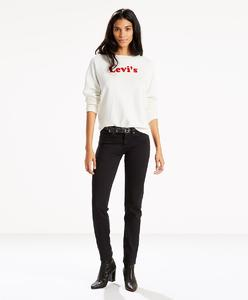 Levi's 712 Slim Soft Black Jeans Women 18884-0026