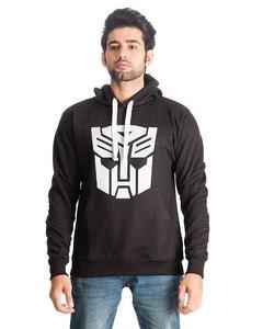 Black Fleece Transformer Printed Hoodies For Men