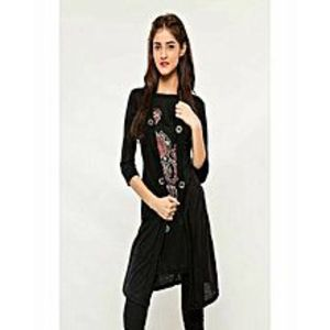 AH Collection Pakistan Black & White Twill Shirt For Women