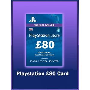 PLAY STATION GIFT CARD 80 UK
