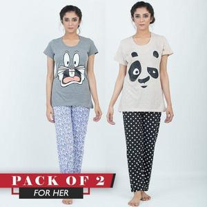 Pack Of Sleep wear T shirt and Trouser