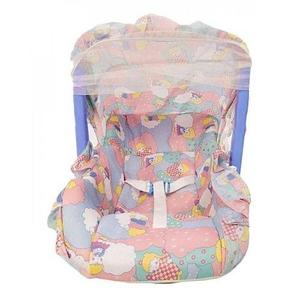 Super Baby Carry Cot With Net - Blue