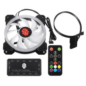 3pcs 120mm RGB Adjustable CPU Cooling Fan High Quality Computer LED Cooler Case Silent CPU Radiator Heatsink Controller Remote For PC