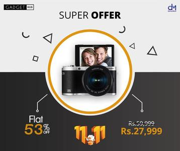 Samsung 21.6 MP AMOLED with Touch Display 3.31 inch Digital Camera - EV-NX300