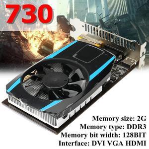 GT730 2G DDR3 128BIT Graphics Card PCI Express 2.0 DVI VGA HDMI
